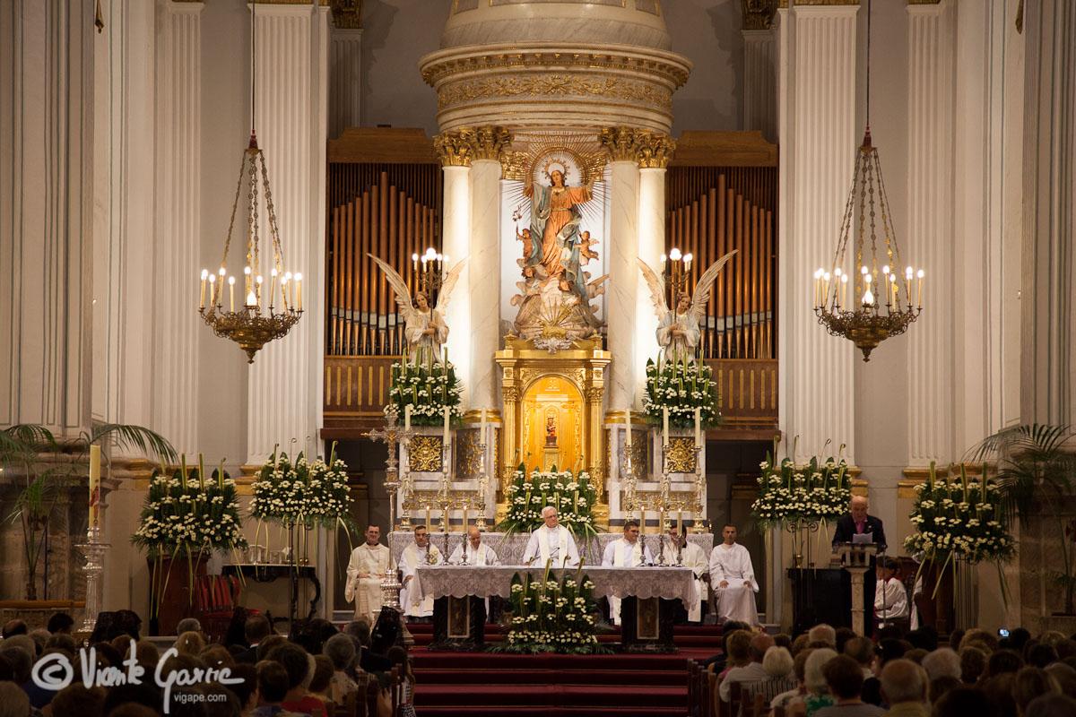 Iglesia de Santa Maria la Mayor de Oliva durante el pregón